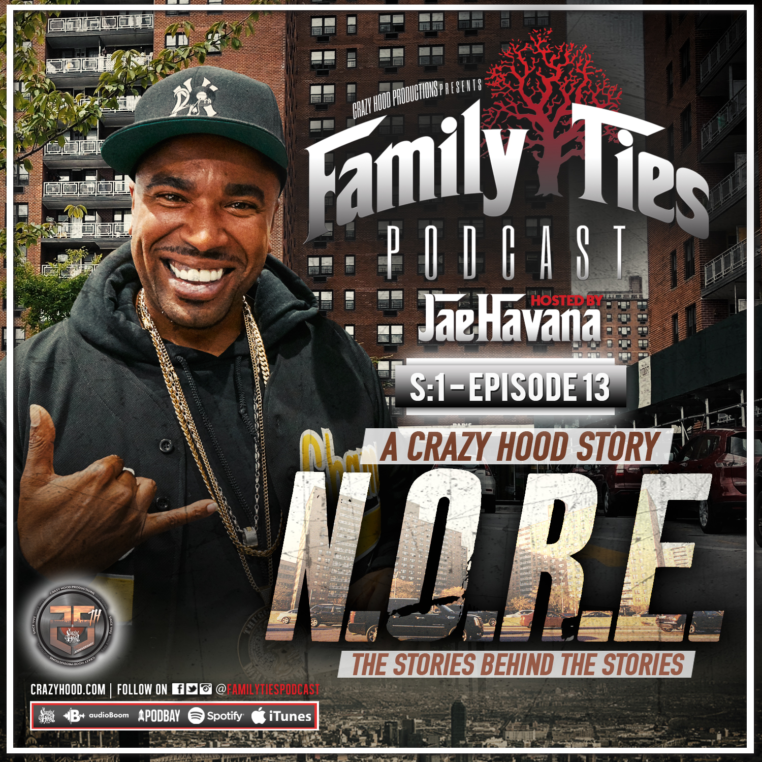 FAMILY TIES PODCAST S1: EPISODE 13 W/ N O R E | Drink Champs